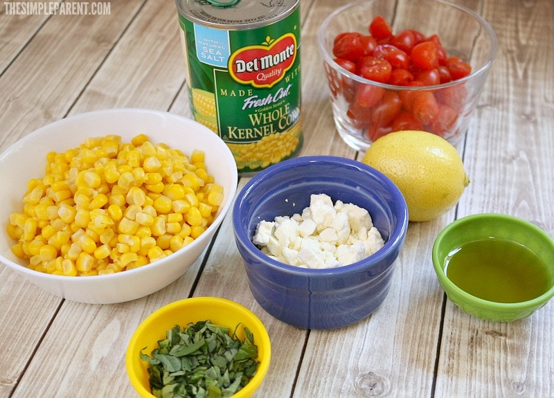 Gather these corn salad ingredients to make this easy recipe!
