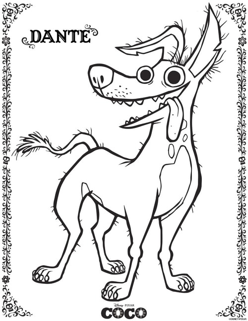 Free Disney Coloring Pages featuring Disney•Pixar's Coco ...