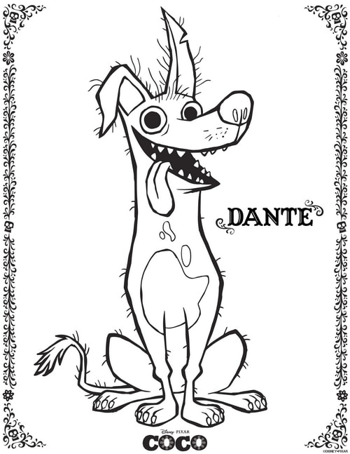 Download free Disney coloring pages - Dante!