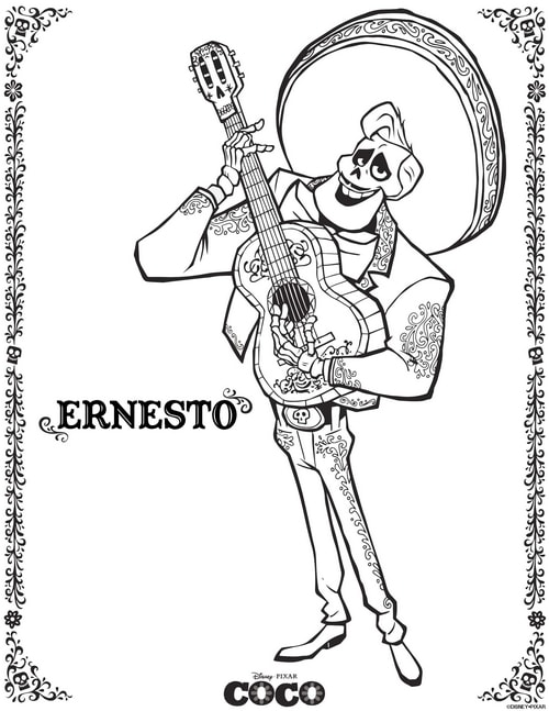 Download free Disney coloring pages - Ernesto!