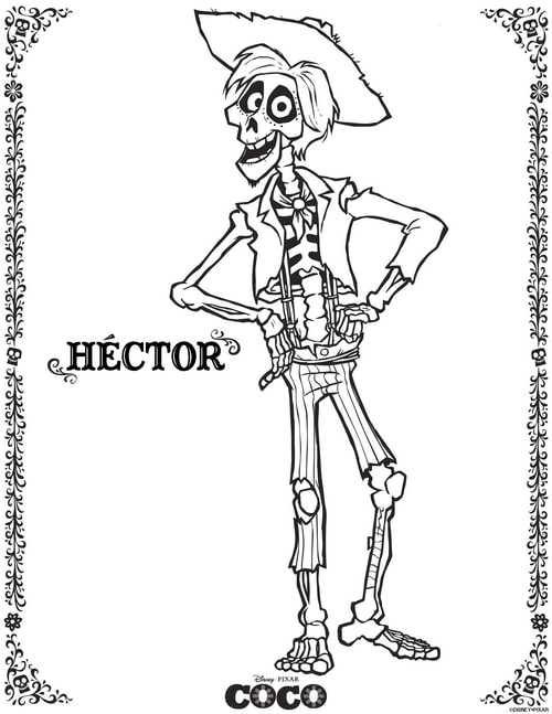 Download free Disney coloring pages - Hector!