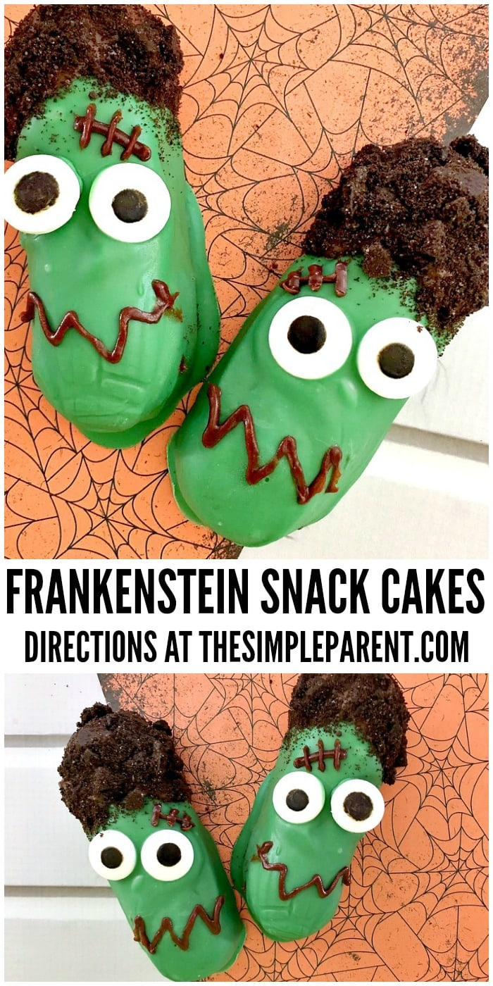 Celebrate with these fun Halloween Frankenstein cakes with your family!