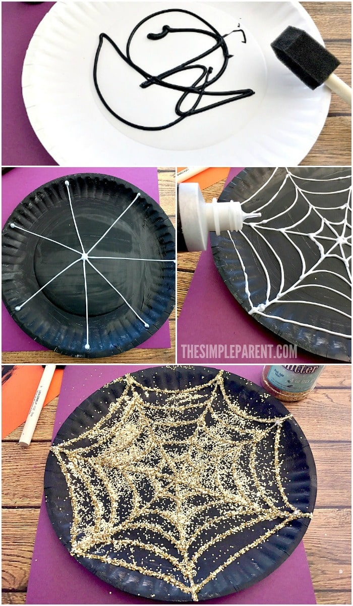 Learn how to make this Halloween spider web craft with your kids!