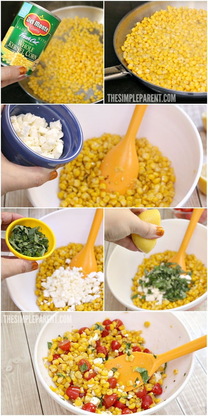 Learn how to make easy corn salad with this recipe!