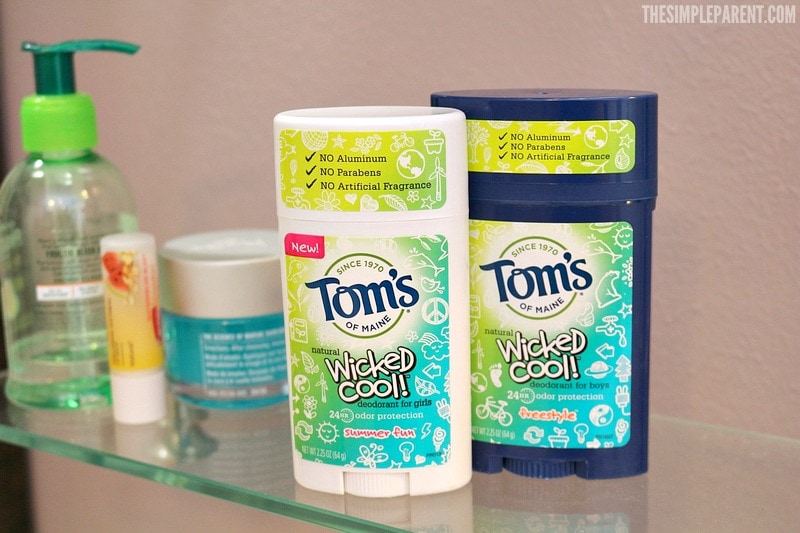 Tom's of Maine kid friendly deodorant is perfect for back to school!