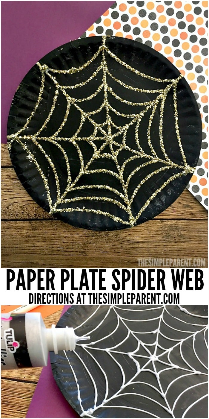Make this sparkly paper plate spider web craft with your kids this Halloween! & Paper Plate Spider Web Craft That Sparkles This Halloween u2022 The ...