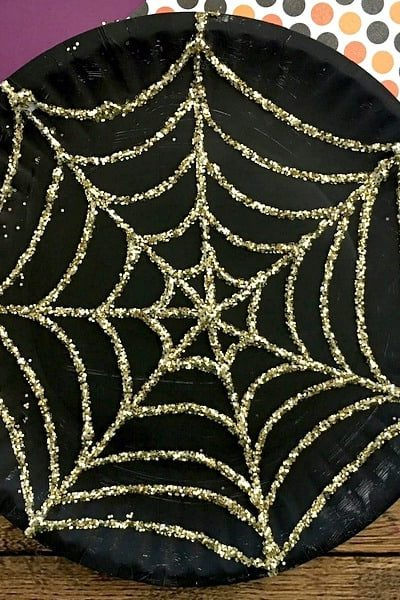 Paper Plate Spider Web Craft That Sparkles This Halloween