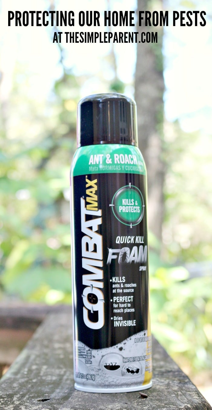 Protect your home with Combat Max Ant & Roach Killing Foam Spray!