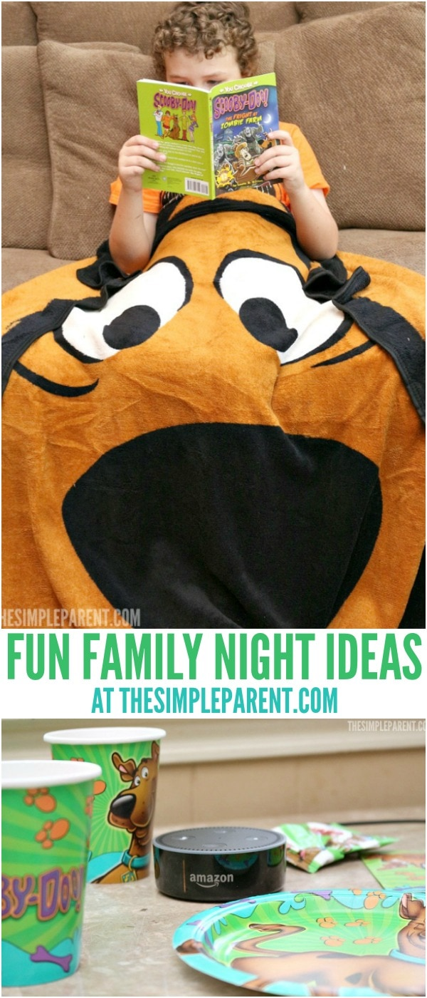 Plan a night with your family using our family fun night ideas featuring some favorite characters!