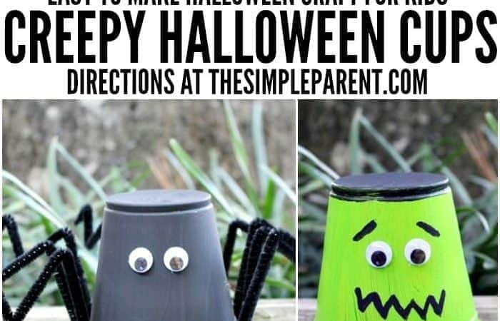 Kids Halloween Craft Projects: Creepy Halloween Cups