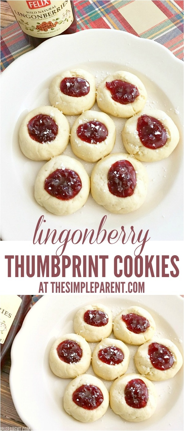 Make lingonberry thumbprint cookies for your holiday parties!
