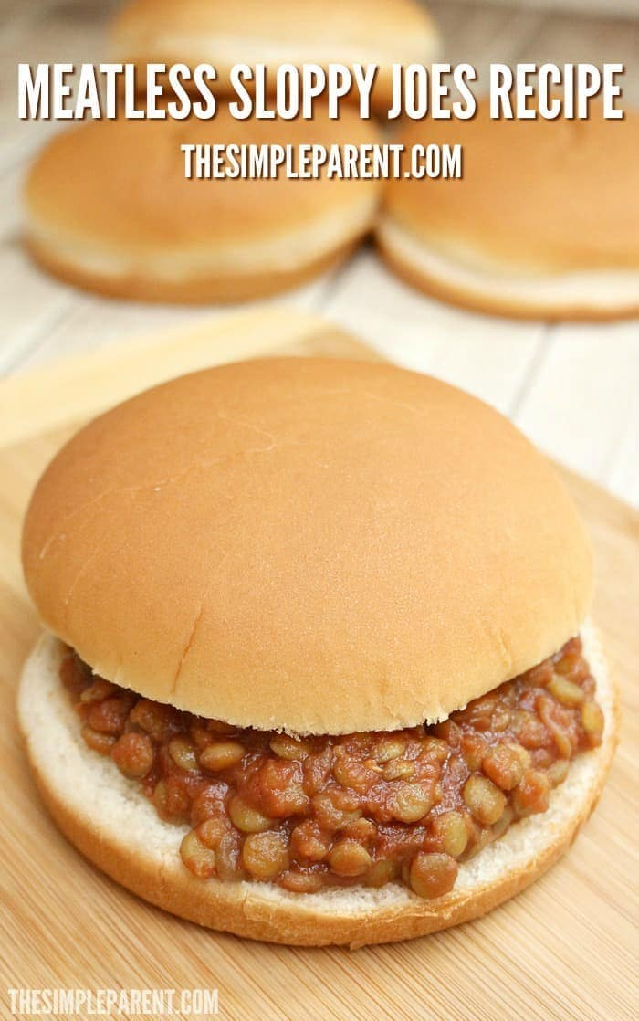 Make this easy meatless Sloppy Joe recipe for your family tonight!