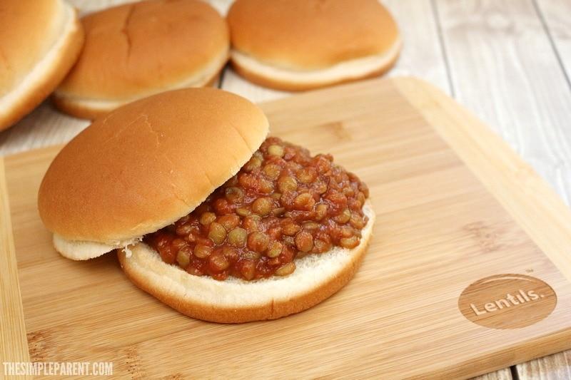 Make this easy meatless Sloppy Joe recipe for dinner!