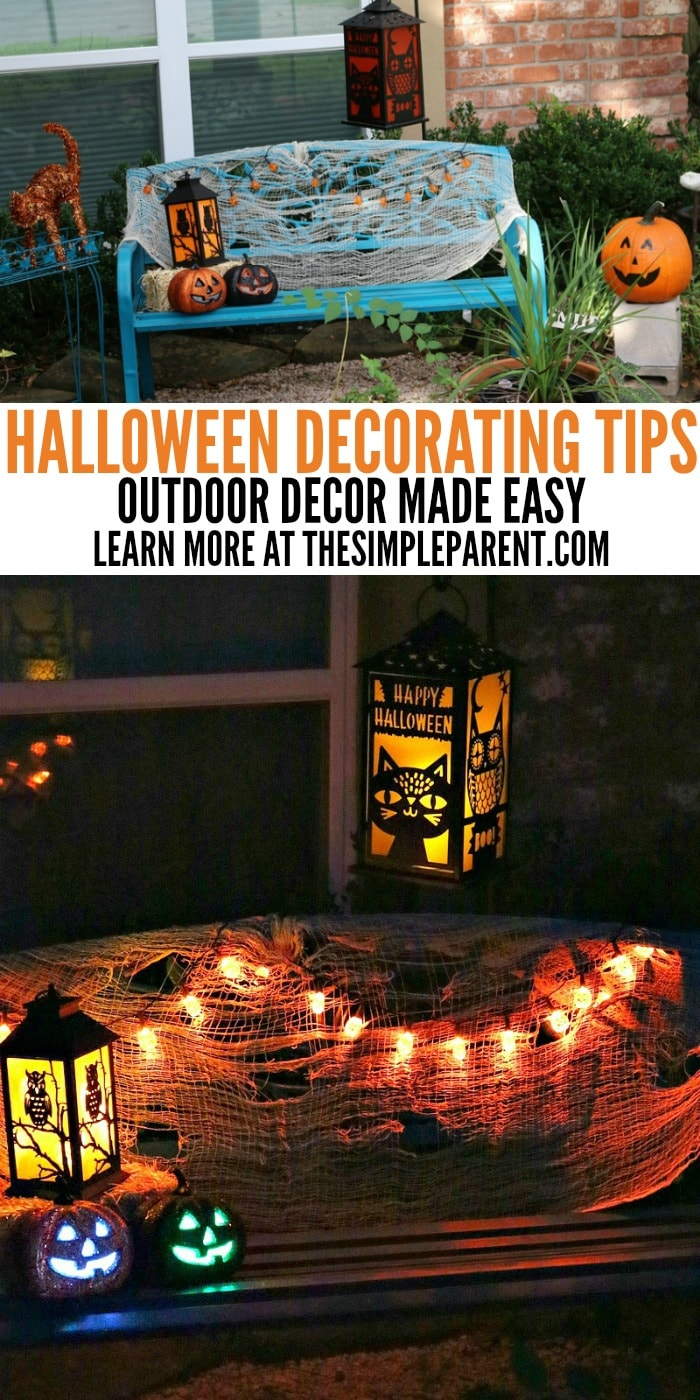 Outdoor halloween decorating tips to make your home festive the simple parent - Simple design tips to add a spark to your home ...