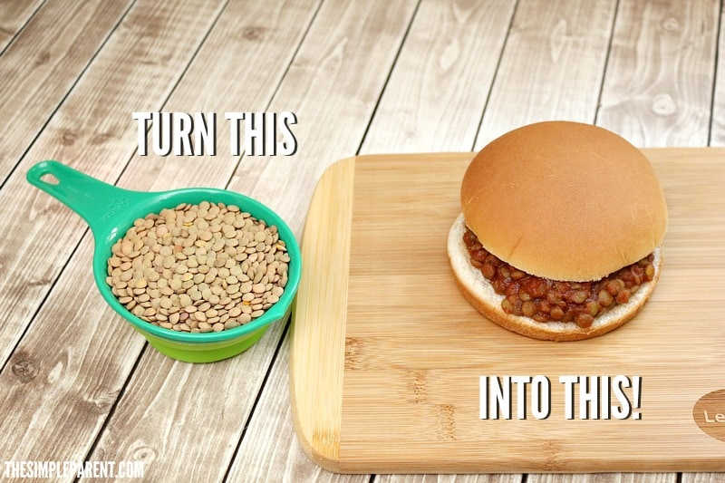 Use lentils to make this quick Sloppy Joe recipe!