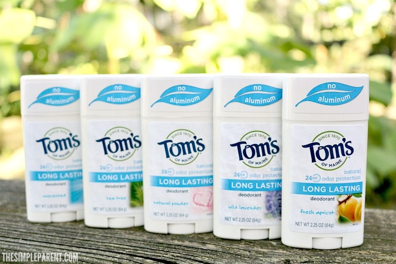 Learn all about Tom's of Maine Natural Deodorant and how it could work for your family!