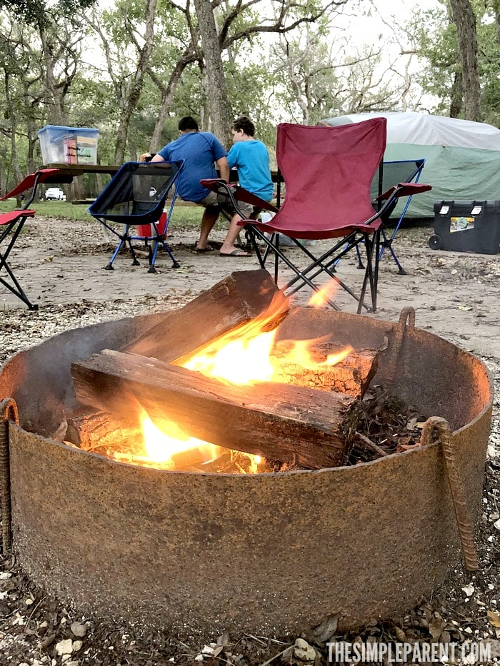 Pack plenty of materials for a campfire in your family camping basics!