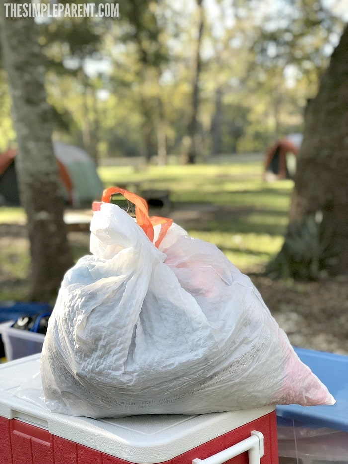 Make sure that garbage bags are on your family camping checklist! They're a must!