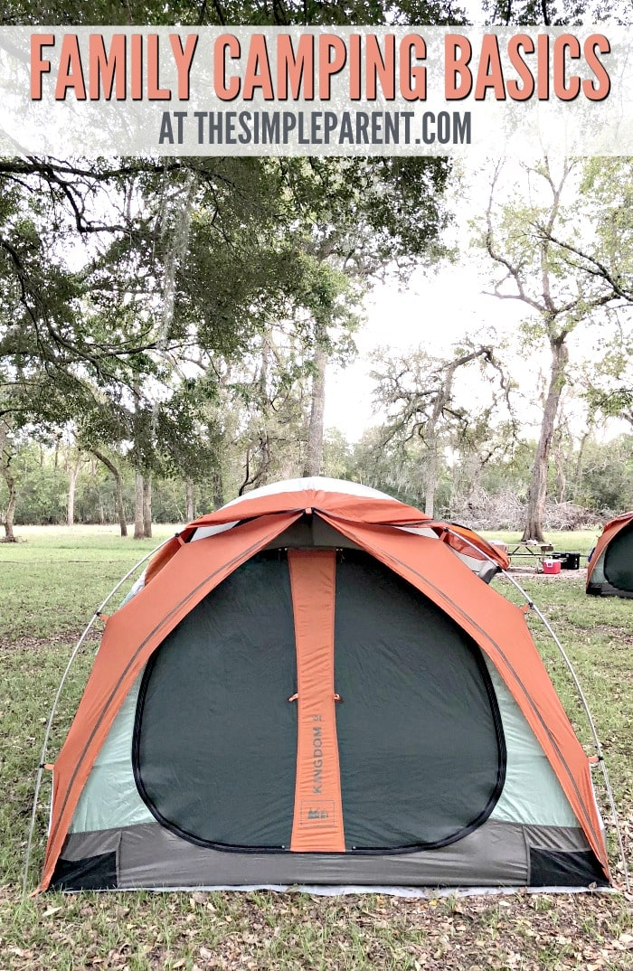 This family camping checklist will help you make sure you have all the basics you need for your first camping experience!