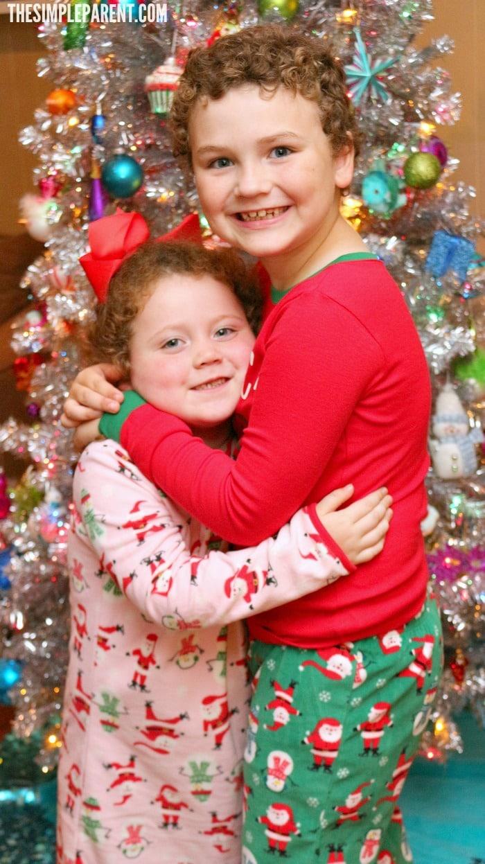Celebrate family Christmas Eve traditions like pajamas!