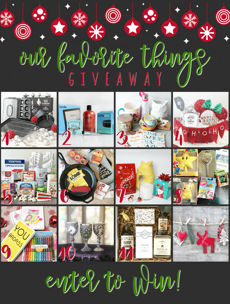 Enter to win all of the 2017 My Favorite Things Holiday Giveaways!