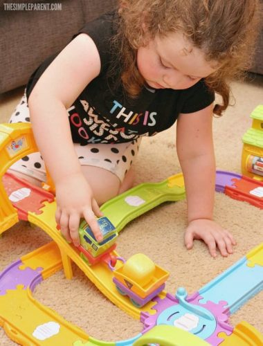 Your child can learn while they play with My First Thomas & Friends Railway Sets! They can play their way to learning!