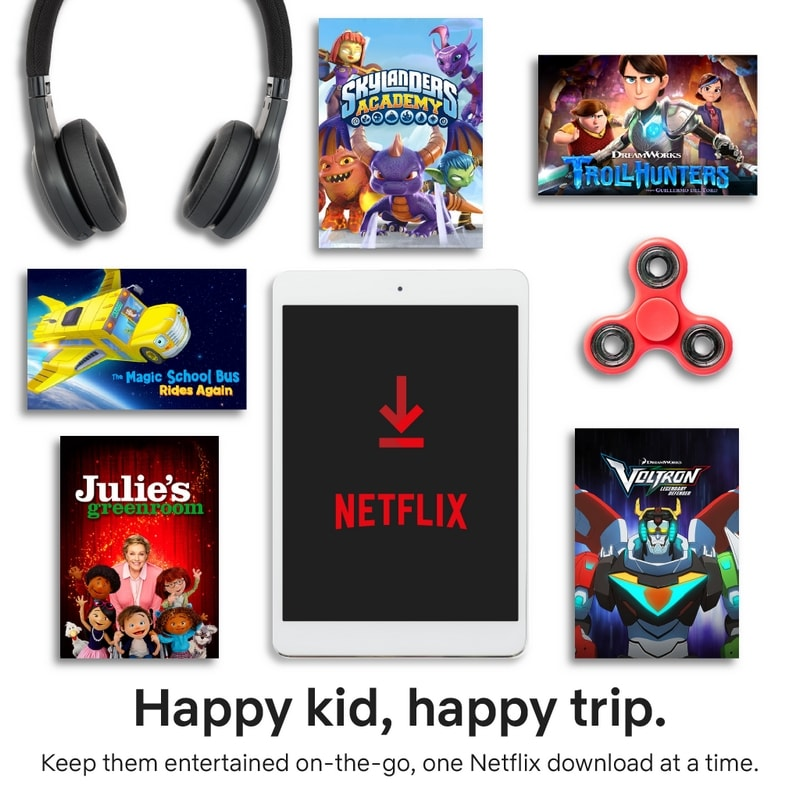 Check out this list of Netflix downloadable movies and shows for big kids!