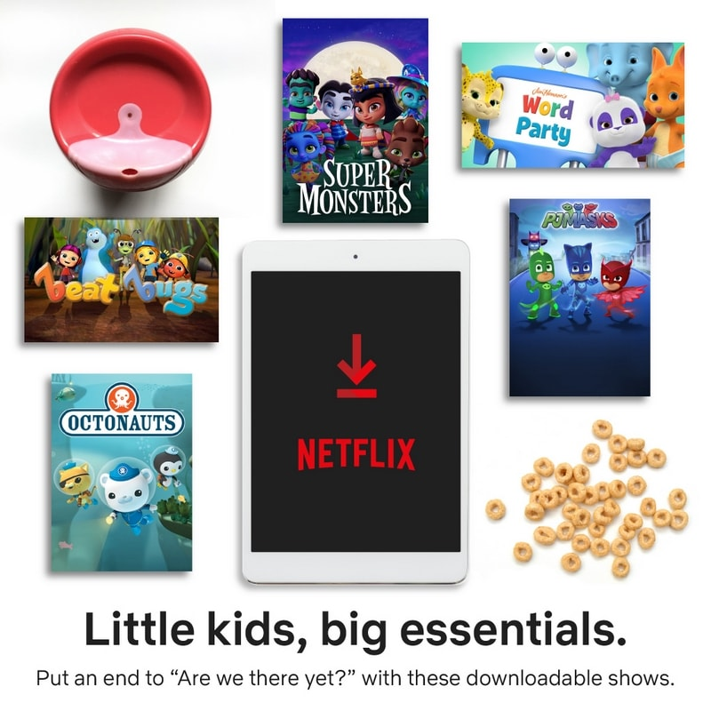 Check out this list of Netflix downloadable movies and shows for little kids!