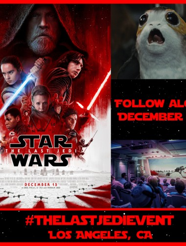 Watch The Last Jedi Trailer and then follow along as I hit #TheLastJediEvent and learn more about the film!