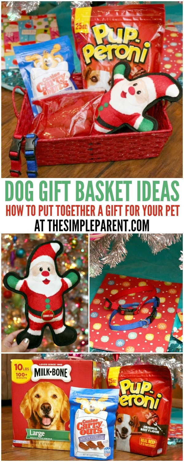 Use these easy dog gift basket ideas to put together a holiday gift for your pup!