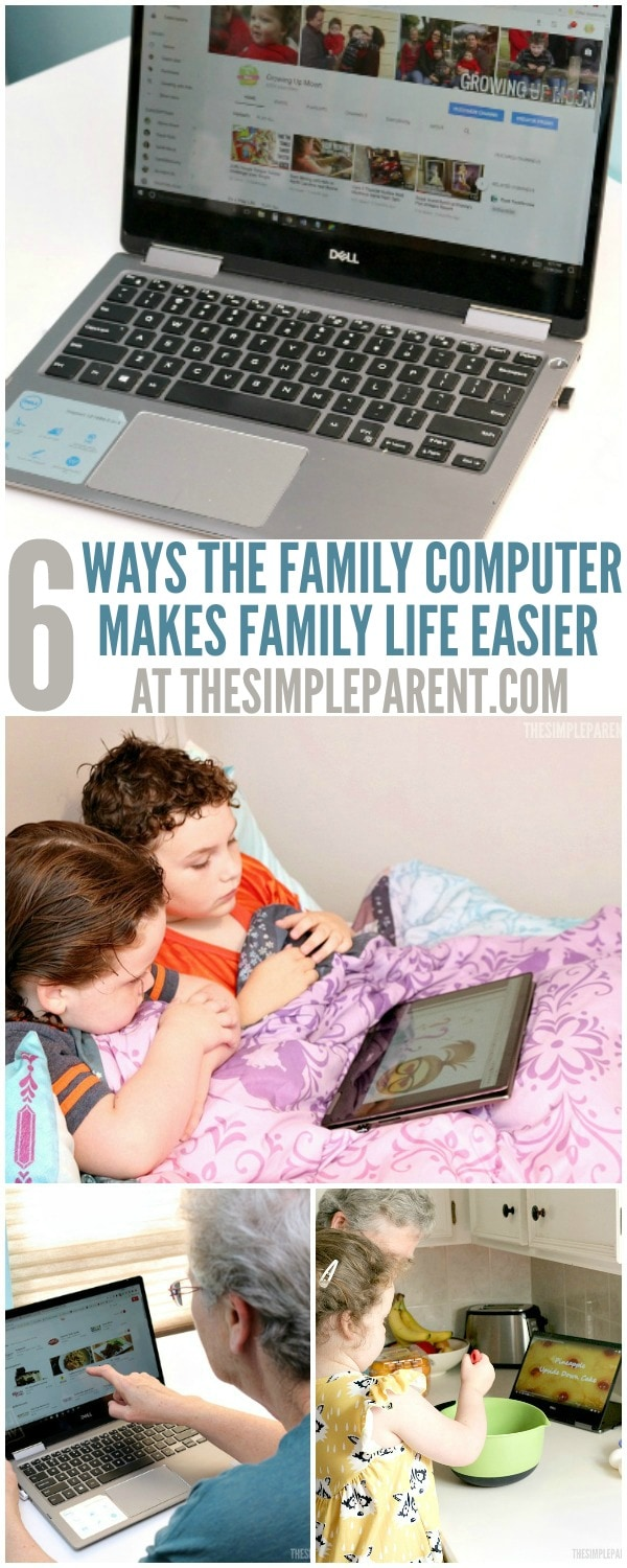 Our family laptop is an integral part of our daily lives and we're excited to share how it brings us together. Check out these 6 ways your family can use your computer this weekend!