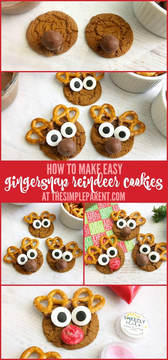 Gingersnap Reindeer Cookies That Are So Easy To Make The Simple