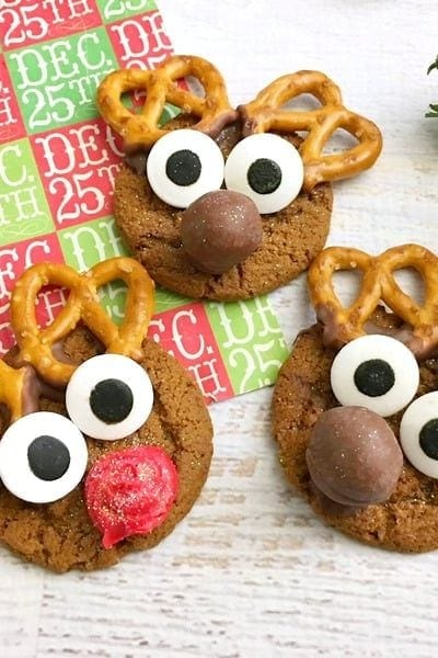 Gingersnap Reindeer Cookies That Are So Easy to Make!