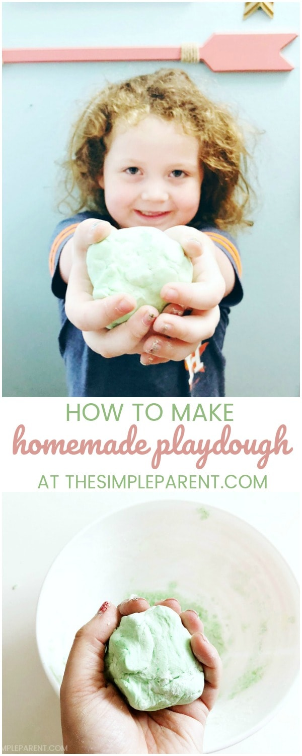 Make this easy homemade soft playdough recipe with your kids!