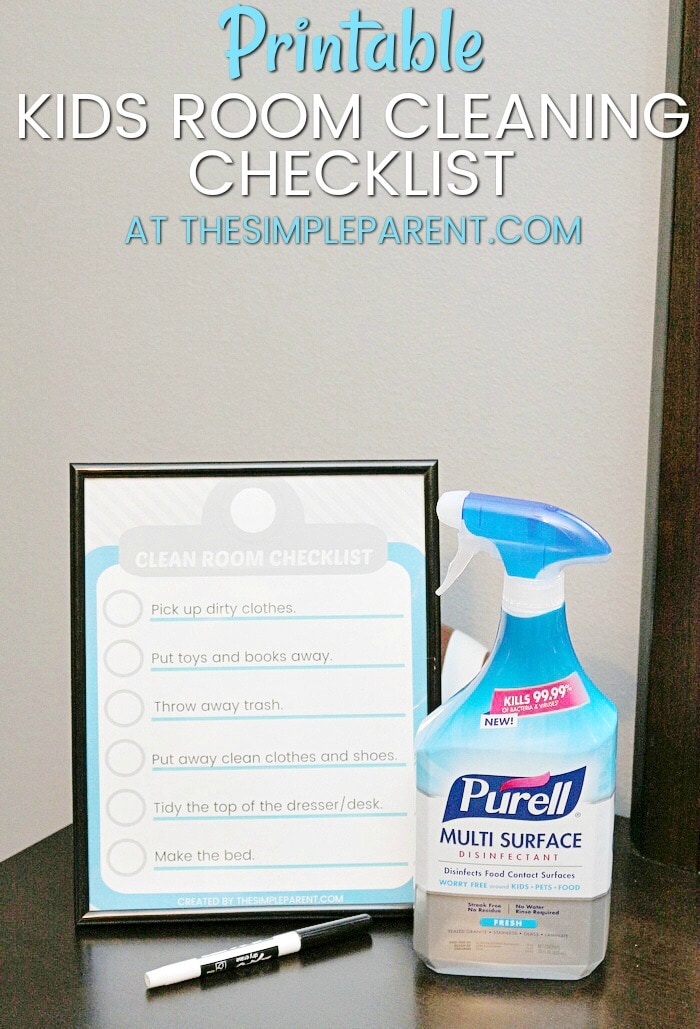 Print out this FREE printable room cleaning checklist and get your kids to start helping take care of their own rooms!