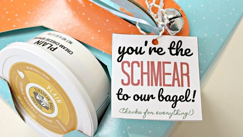 Unique Gift Card Holders & FREE Bagel Themed Thank You Printable