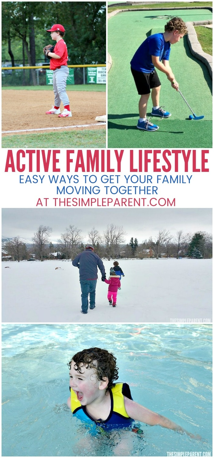 Want a more active family lifestyle? Try these easy steps that work for kids from preschool through high schoolage. You can get your children moving more while you get yourself doing the same with these easy things to do this year!