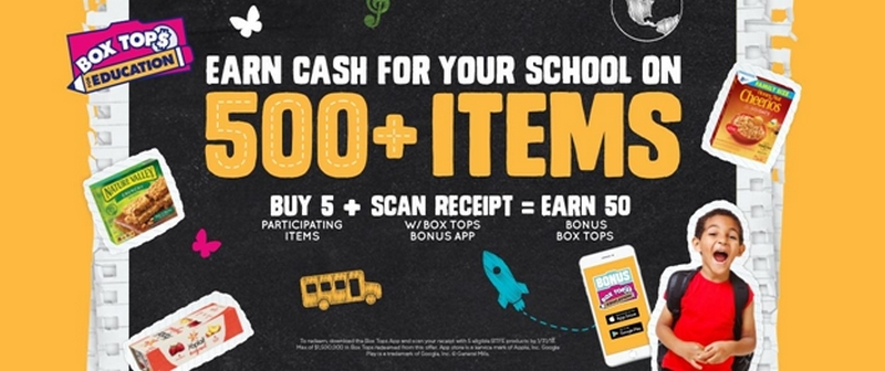 Help your school by collection Box Tops for Education!