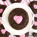 Chocolate Cake Mix Cookie Recipes - This easy Valentine cookie recipe is perfect for kids to make with you in the kitchen! They're decorated with an icing heart cut outs but is flexible enough for all the decorating ideas you can come up with!