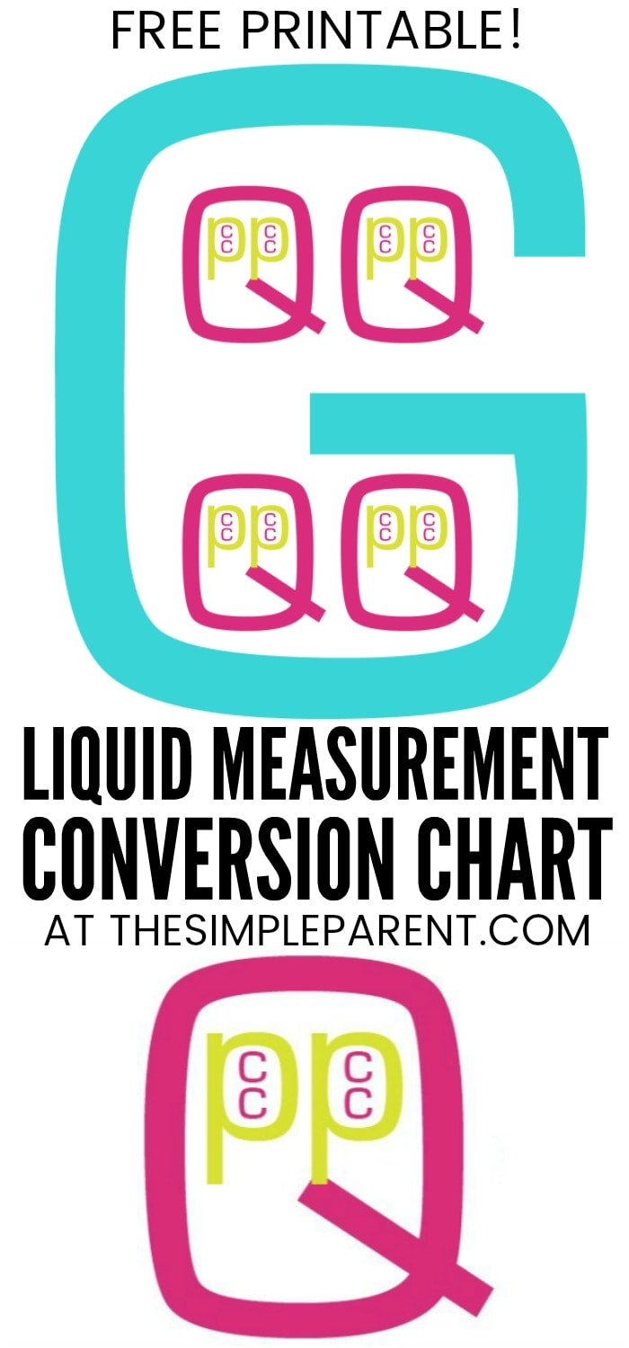 Cups in a Quart Printable - Help figure out how many cups are in a quart, cups in a gallon, cups in a pint, and more! Use this FREE liquid measurement printable to help in the kitchen or to help your kids with homework!