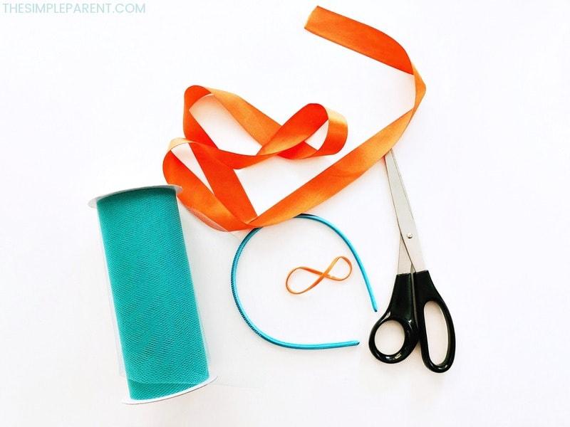 Materials you need to make DIY Troll Hair Headband