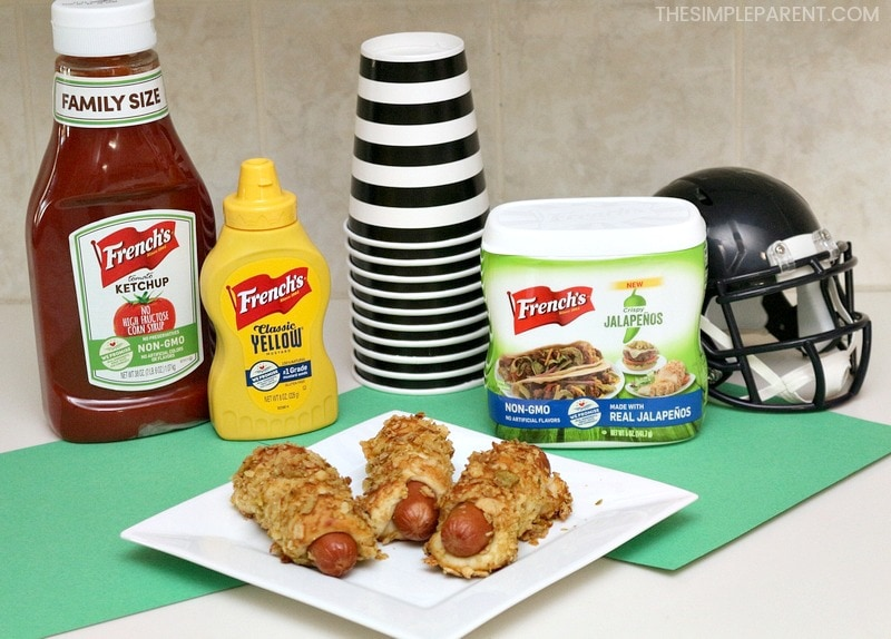 Easy Game Day Finger Foods - These recipes for quick appetizers are great for kids and adults who come over for a football tailgating or homegating party! (They can also be used as quick dinner ideas and a great for a crowd!) Check out the Jalapeno Pretzel Dog recipe! It's a favorite around our house!