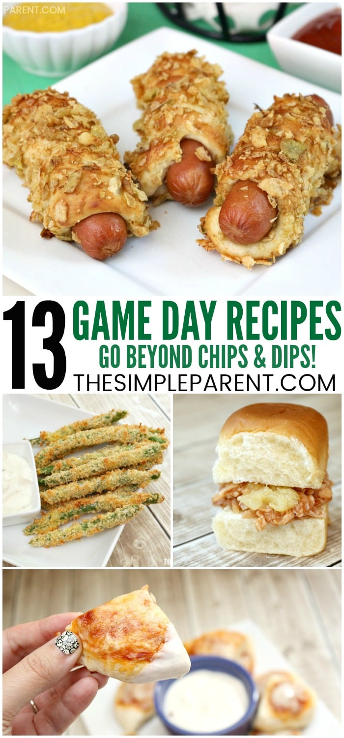 Game Day Easy Finger Foods - These recipes for quick appetizers are great for kids and adults who come over for a football tailgating or homegating party! (They can also be used as quick dinner ideas and a great for a crowd!) Check out the Jalapeno Pretzel Dog recipe! It's a favorite around our house!