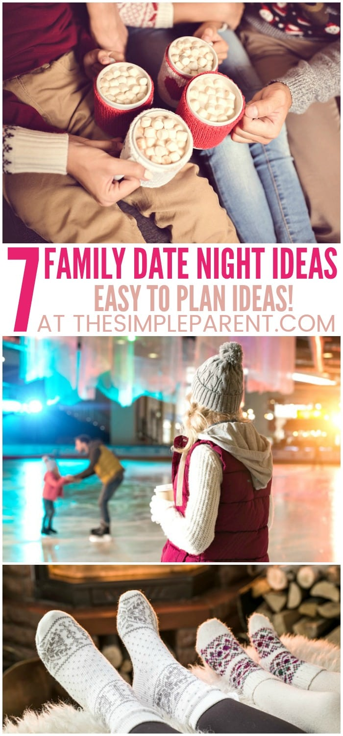 Family Date Night Ideas for Valentine's Day - These easy ideas are perfect for spending time with your family! They're perfect for special occasions but also for just an ordinary day! Whether you're planning to go out or stay at home with baby, with toddlers, or with older kids, these ideas will make it easy to have fun together!
