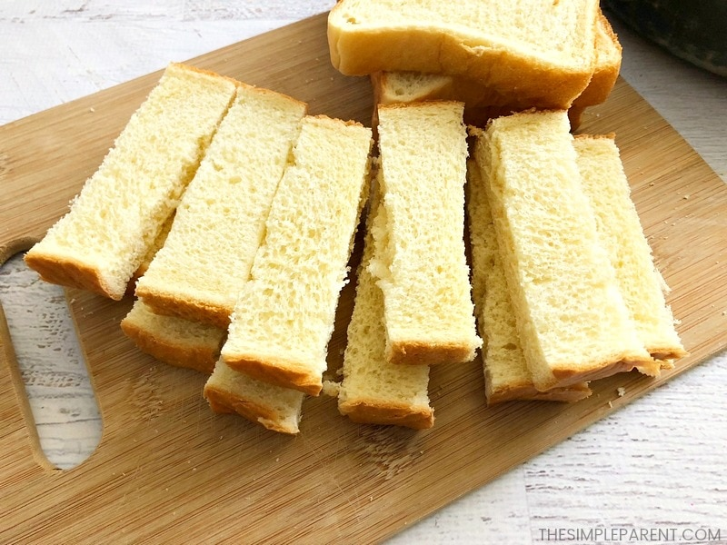Make french toaster sticks with Texas Toast!