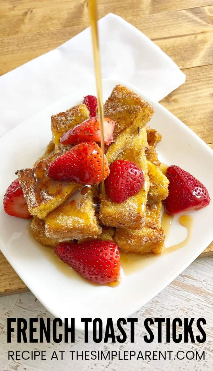 French Toaster Sticks are an easy recipe to make for your family on the weekends! You can make these cinnamon french toast sticks with Texas Toast or regular bread. They great for kids and make the best classic french toast bites too!