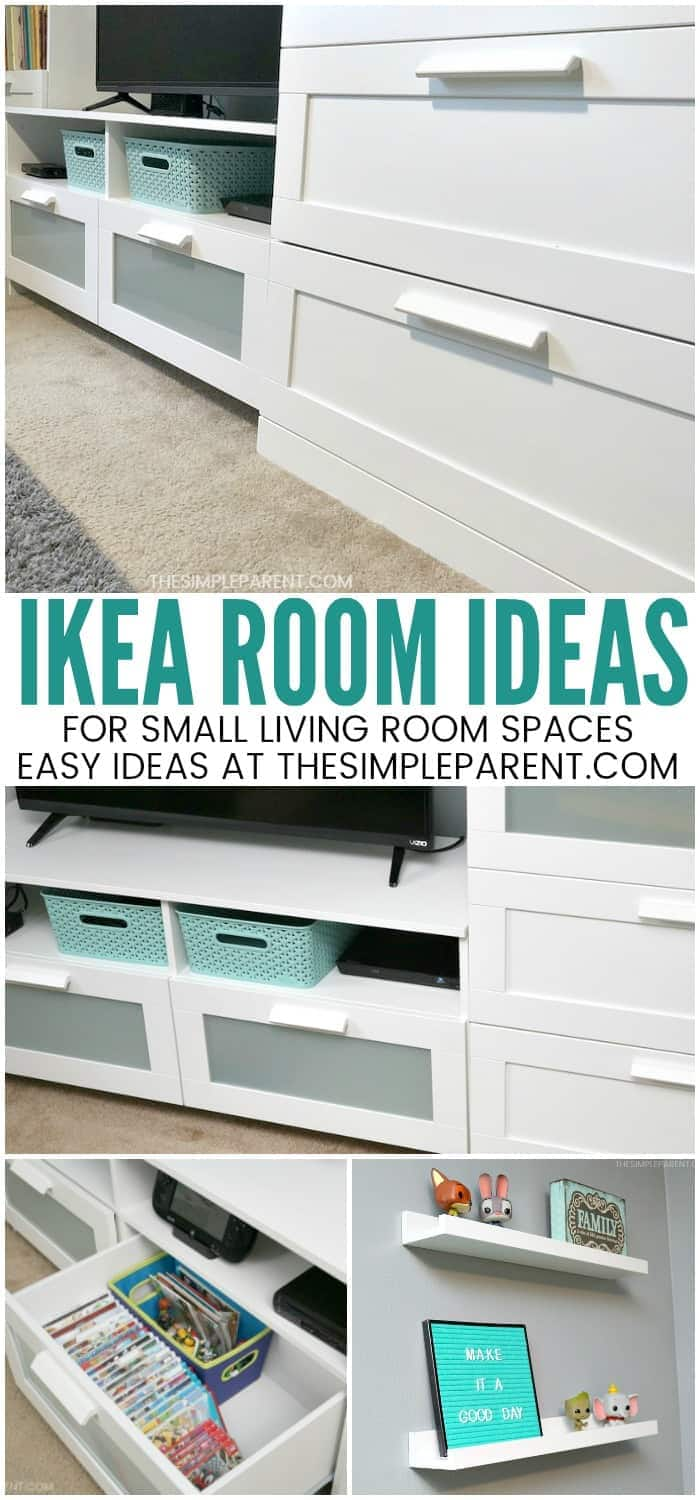 IKEA Room Ideas - With help from IKEA furniture we turned our second small living room space into a functional playroom for the kids. The room and closet are now full of storage and ways to organize. It's turned the space into a space the whole family enjoys! My favorite idea is the one that inspired it all!