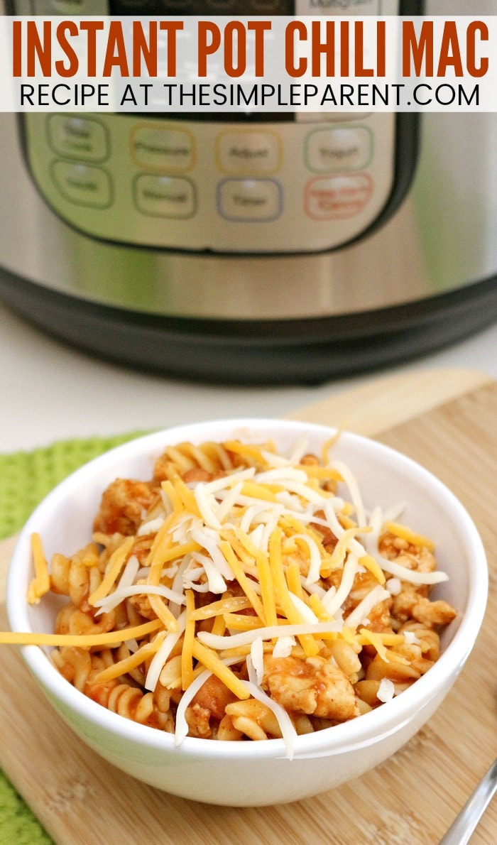 Instant Pot Chili Mac - Easy pressure cooker recipes make great family dinners. You can make this recipe with ground turkey, chicken, or ground beef and canned beans. It's a true one pot dinner recipe!