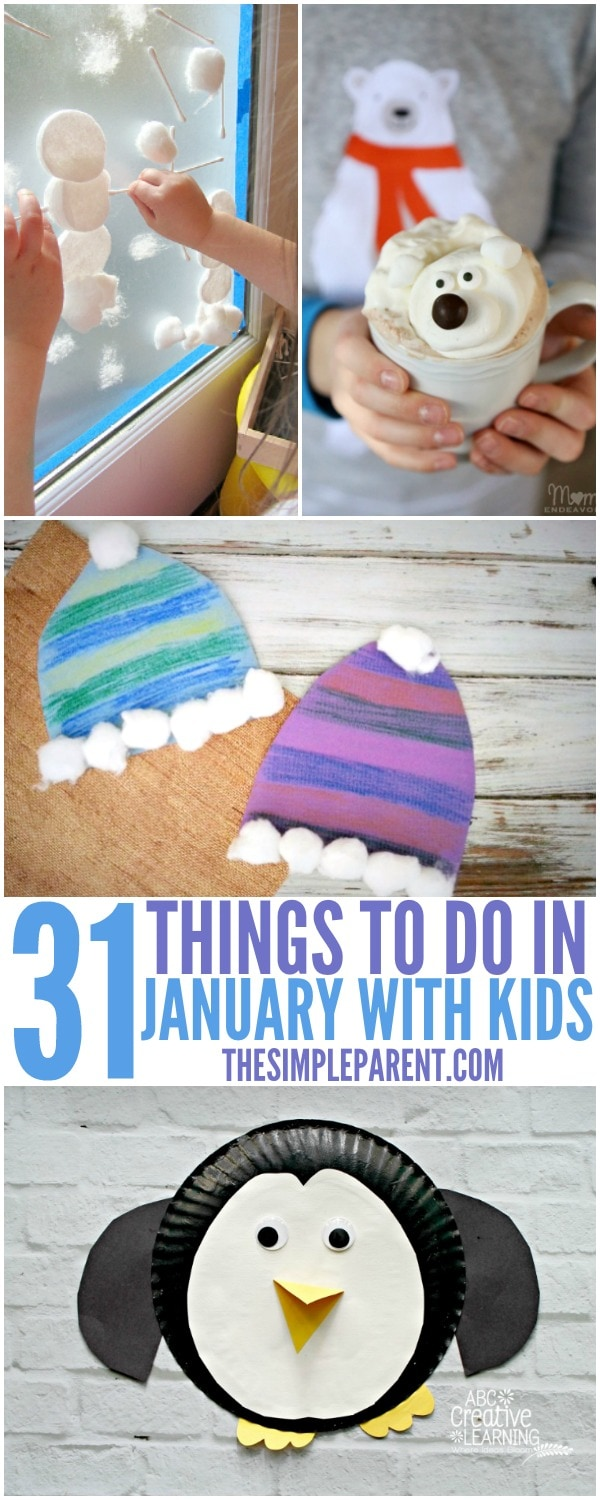 Make memories this year with 31 January Activities for Kids! There's an activity to do together every single day of the month!