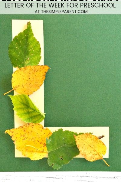 Letter L Activities for Preschoolers: L is for Leaves